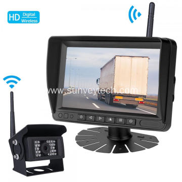 Parking Reversing Front Side Rear View Backup Camera Monitor 7inch